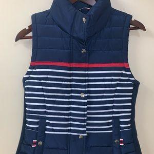 Tommy Hilfiger Women's X-Small striped puffer vest